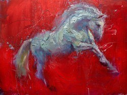 Liberty's Gallop by Henry Asencio -  sized 48x36 inches. Available from Whitewall Galleries